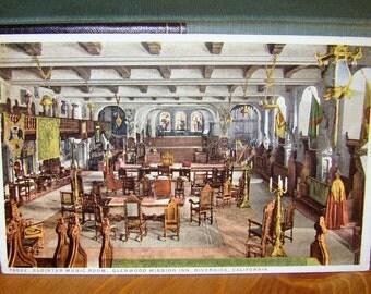 Vintage Postcard, Glenwood Mission Inn, Riverside, California 1930s Paper Ephemera