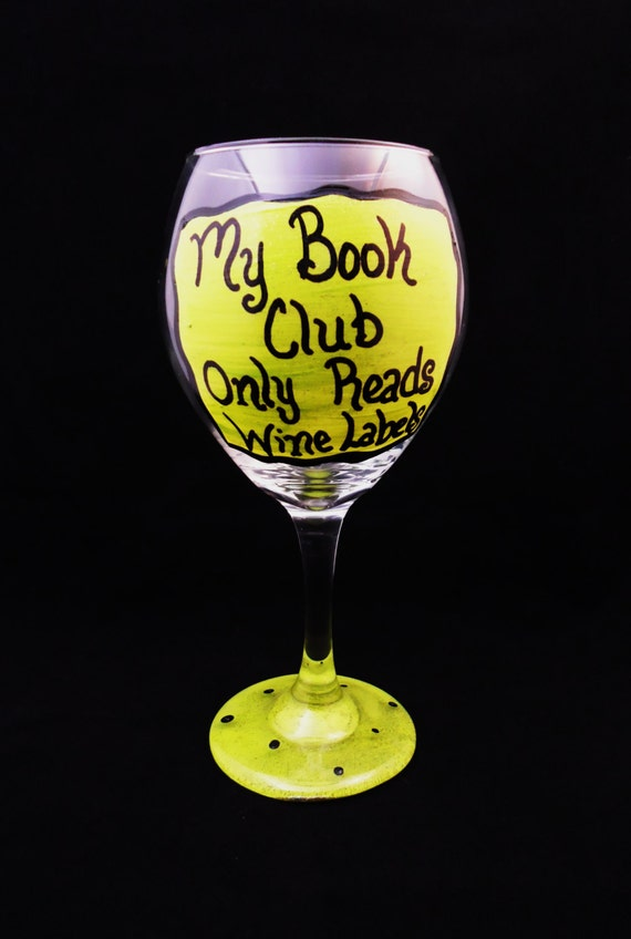 Items similar to hand painted wine glass funny saying for Cute quotes for wine glasses