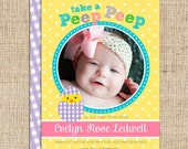 Baby Chick Birth Announcements - Digital File or Printed Invitations with FREE SHIPPING