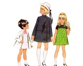 1960s Girls Dress Pattern McCalls 9171  Size 3 Breast 22 Girls Dress with Coat Vintage Sewing Pattern