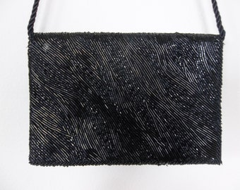 Vintage Black beaded purse