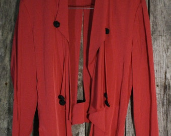 Vintage Wild Rose Blouse / Jacket - Made in USA