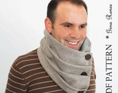 Infinity Scarf Pattern. Scarf Sewing pattern. Scarf PDF sewing pattern. Unisex.