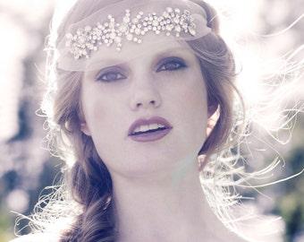 Crystal tulle headband -Willow