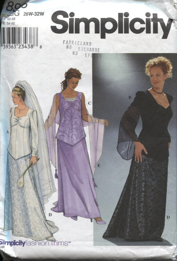 Simplicity 8923 Ladies Top Skirt And Shawl By