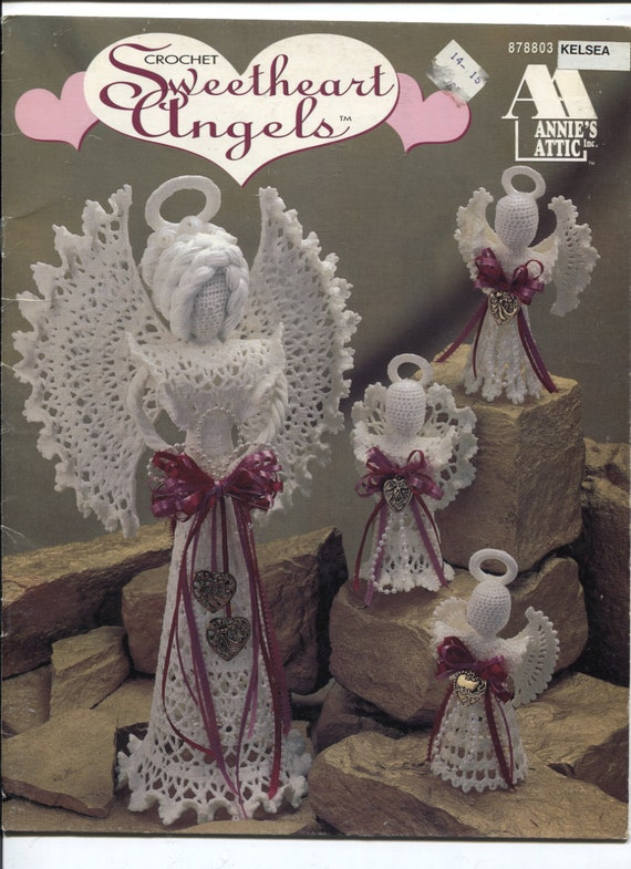 Annies Attic Crochet : Annies Attic 878803, Crochet Sweetheart Angels, Crochet Patterns