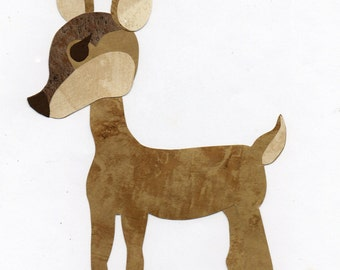 Applique Template Forest Animals Deer