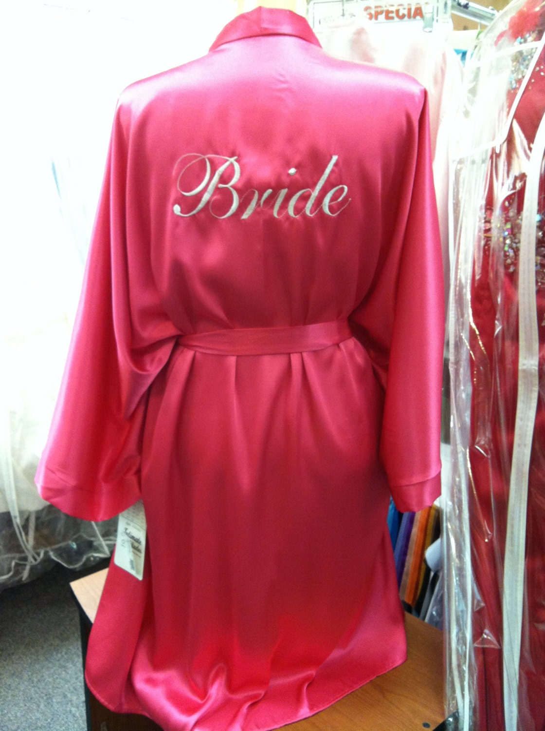 Wedding Bride Robe bride robe pink plus sized 1x2x