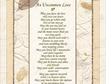 Wedding, Commitment Poem - UNCOMMON LOVE, by Terah Cox