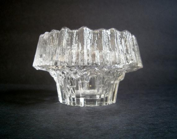 Iittala Finland Stellaria Glass Candle Holder Tapio Wirkkala