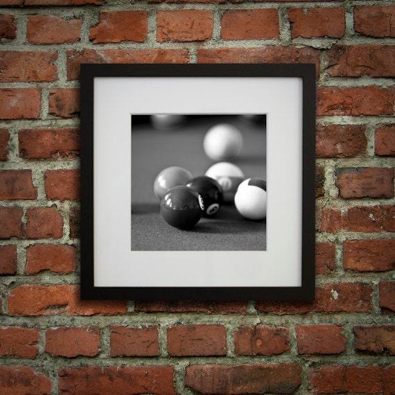 12x12 Framed Art Billiard Decor Pool Room D 233 Cor Black And