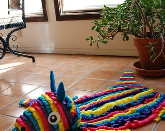 SALE - Faux Taxidermy Felt Piñata Skin Rug - Save 50 Dollars!