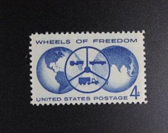 1162 Wheels of Freedom Vintage Stamps (100)