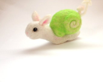 Needle Felted Snail Bunny (Made to Order)