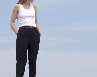 Navy designer wool pants size S Giorgio Sant 'Angelo