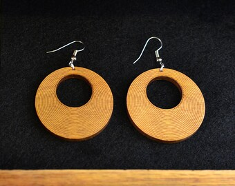 Striped Circle Earrings