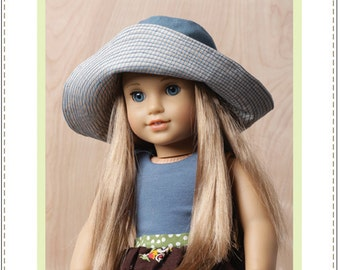 Pixie Faire Bonjour Teaspoon Phoebe Hat Doll Clothes Pattern for 18 inch American Girl Dolls - PDF