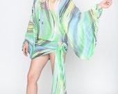 Silk Cover Up. Beach Wear Clothing.