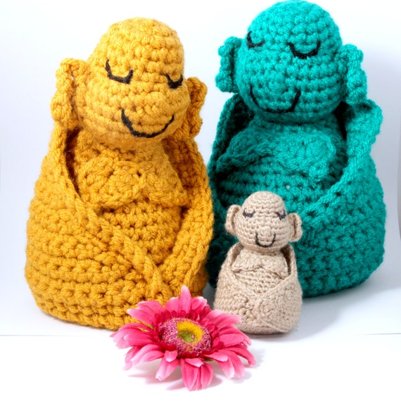 Amigurumi Crochet Patterns Free Download : Buddha Crochet Pattern Amigurumi INSTANT DOWNLOAD