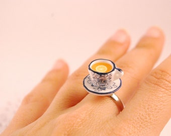 tea cup ring - food jewelry