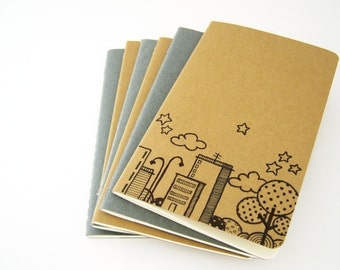 Moleskine Pocket  Skyline Notebook  Cahier journal hand drawn Christmas in July  15% OFF any order with code CIJ2016