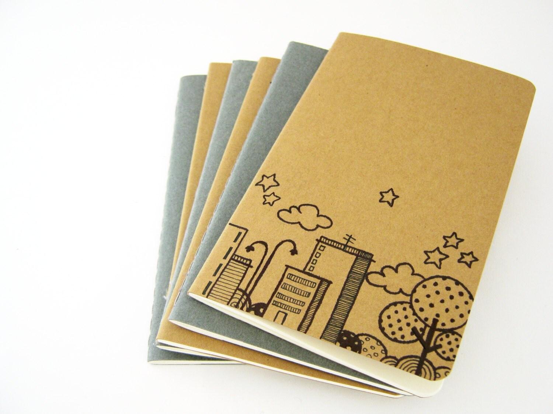 Moleskine Pocket Skyline Notebook Cahier journal hand drawn