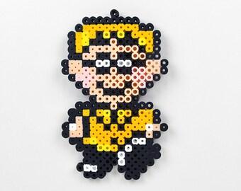 Perler Bead Magnet Set Super Nintendo Earthbound Orange Kid