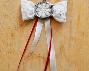 Flower, bowtie necklace