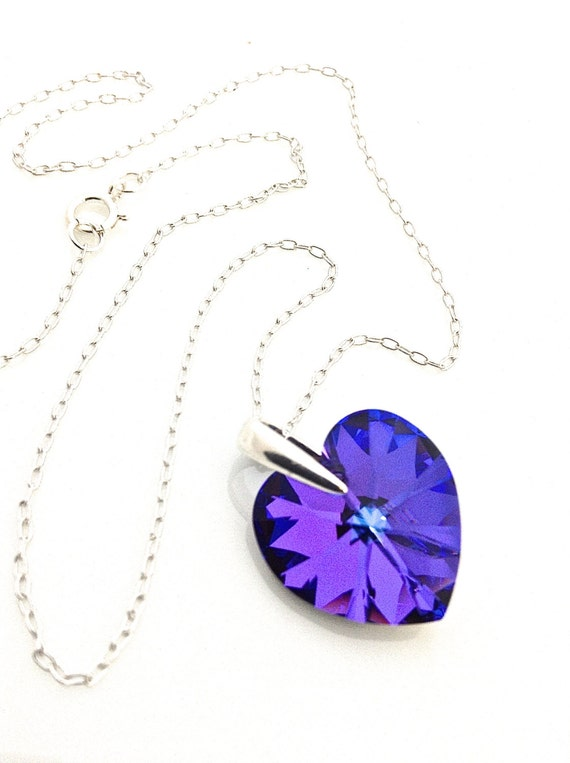 Items similar to purple heart necklace purple valentine for Cute jewelry for girlfriend