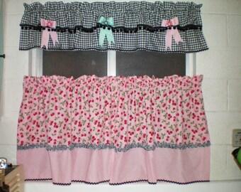 Delightful Retro Kitchen Curtains   Etsy