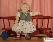 "Nula: 20"" rag OOAK doll - little girl"