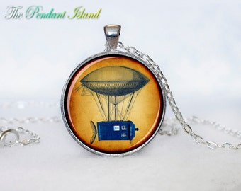 TARDIS NECKLACE Doctor Who Time Machine Pendant necklace Pendant Tardis Necklace Gifts for Him Doctor Who Jewelry
