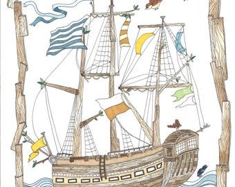 At Sea- Original Artwork