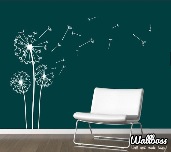Perfect Dandelion Wall Decal   Wall Stickers Blowing Away In The Wind Vinyls Flower  Nature Living Room Bed Room Art Part 17