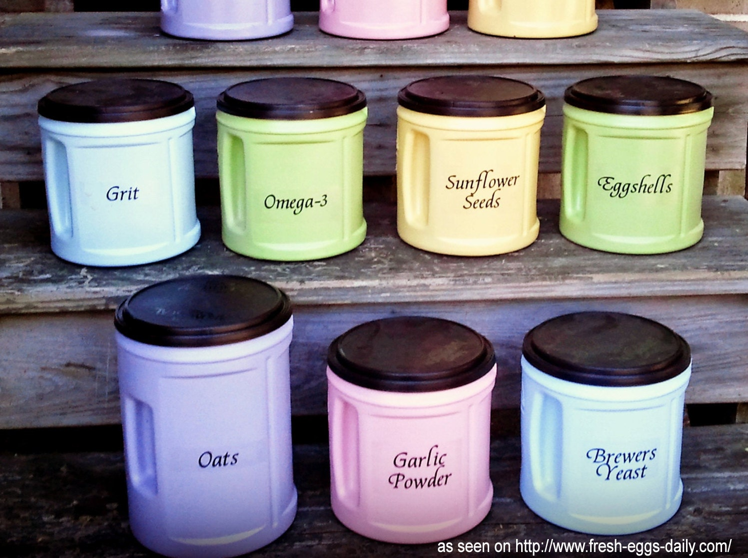 diy chicken feed containers labels 10 pack farm canister