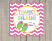 Pool Party Favor Tag / Pool Party Gift Tag / Kids Pool Party Favor Tag / Pool Party Printable / Pool birthday / Party Digital Printable DIY