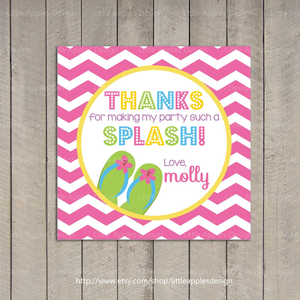 Pool Party Favor Tag / Pool Party Gift Tag / Kids Pool Party