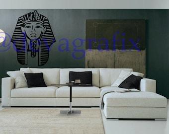 Beautiful Stylish Egyptian Mask Wallart Sticker LAST KINGS Decal Wallart TYGA King