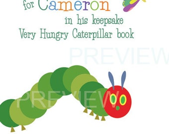 Keepsake Book Sign - Hungry Caterpillar Inspired