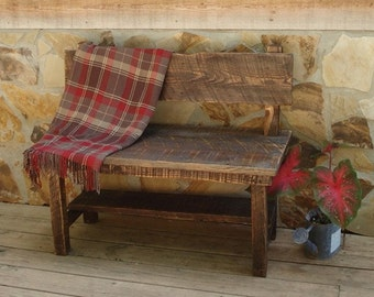 Reclaimed Wood  Farm Bench