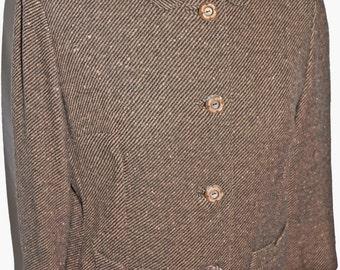 1950s Tweed Jacket Sz 11 Vintage Retro