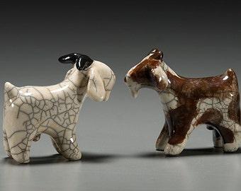 Goats & Billy Goats-Raku fired and handcrafted ceramic