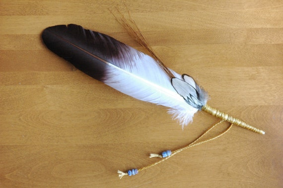 Prayer Feather: Native American Style Eagle Prayer, Smudge, Spirit, Answer, Talking, Blessing, Healing, Prayer Feather