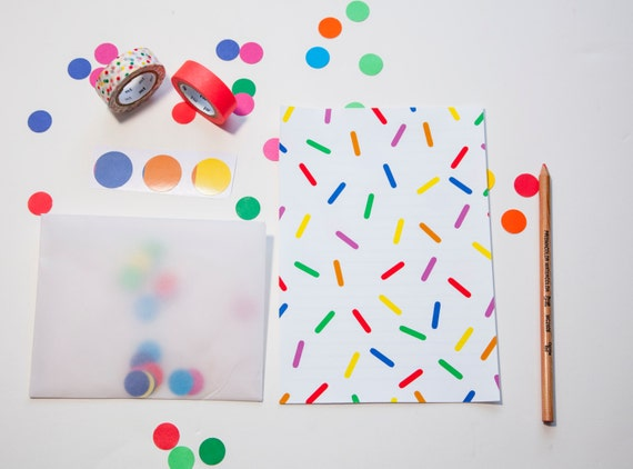 Party Time Letter Set- Confetti Explosion-Birthday-Surprise-Celebration
