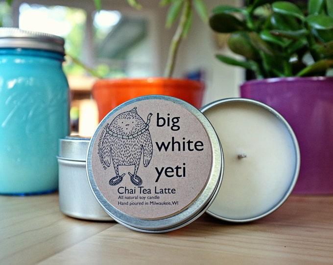 Chai Tea Latte Soy Candle- 6 Ounce Tin