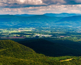 View of the Shenandoah Valley and Appalachian Mountains - Fine Art Print or Wrapped Canvas