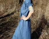 Early Medieval linen underdress gown, dress for the summer. 100% linen. Viking costume, reconstruction.