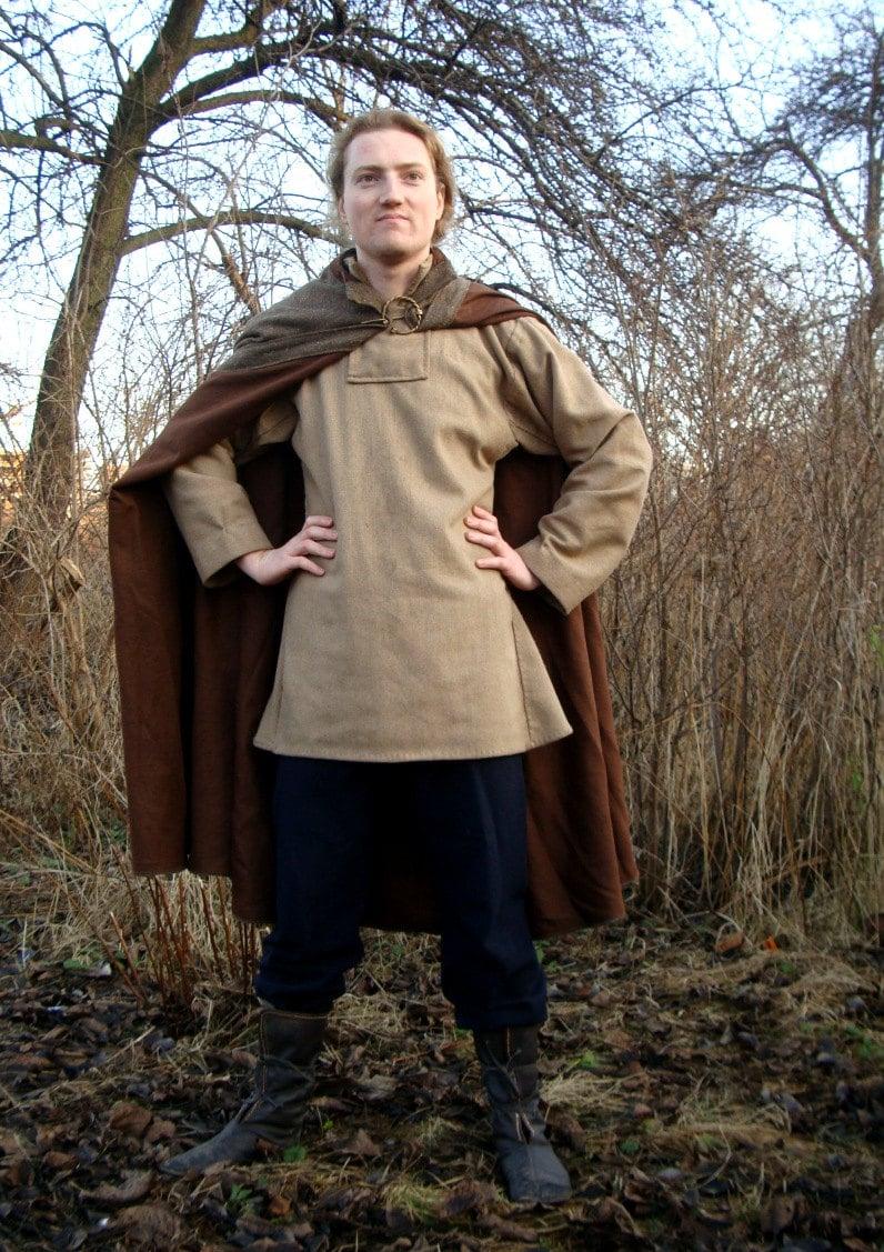 Medieval Viking cloak medieval pattern historical costume