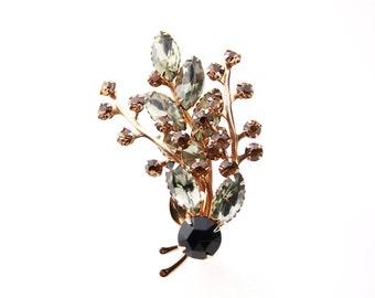 Rhinestone Brooch / Costume Jewelry / Estate Jewelry