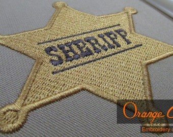 Sheriff Embroidery Design Instant Download